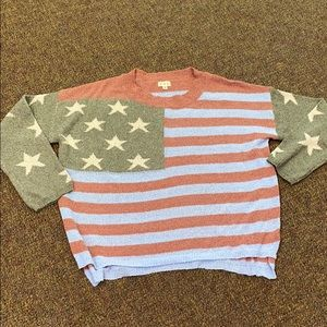 Brand new flag print sweater from POL